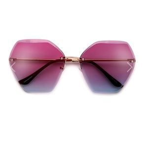 HIGH FASHION COLORFUL OMBRE LENS SUNGLASSES